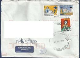 GERMANY POSTAL USED AIRMAIL COVER TO PAKISTAN - Airmail