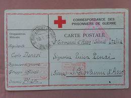 REGNO - 1° Guerra Mondiale Corrispondenza Spedita Da Prigioniero Italiano In Boemia + Spese Postali - 1900-44 Vittorio Emanuele III