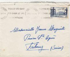 SEUL SUR LETTRE. N° 822. NANCY PLACE STANISLAS.THONON POUR ETRANGER FRONTALIER - Marcophilie (Lettres)