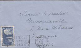 SEUL SUR LETTRE. N° 842. ABBAYE ST WANDRILLE. PARIS POUR ETRANGER - Marcophilie (Lettres)