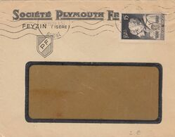 SEUL SUR LETTRE. N° 845. FARAGO-AMBER - Marcophilie (Lettres)