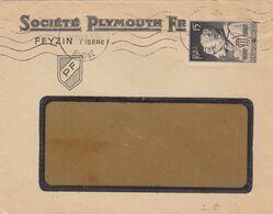 SEUL SUR LETTRE. N° 845. FARAGO-AMPERE. AFFAIRE. SOCIETE PLYMOUTH - Marcophilie (Lettres)