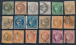 """DP-508: FRANCE: Lot Avec """"BORDEAUX"""" Entre N°39 Et 48 Obl 2ème Choix (obl, Court Ou Légers Clairs) - 1870 Emission De Bordeaux"""