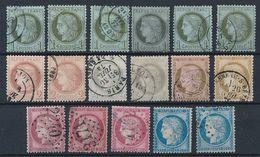 """DP-509: FRANCE: Lot Avec """"CERES"""" Entre N°50 Et 60C Obl 2ème Choix (obl, Court Ou Légers Clairs) - 1871-1875 Cérès"""