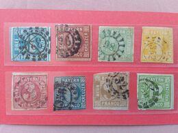 GERMANIA - ANTICHI STATI - BAVIERA 1850 - Grande Cifra - Lotticino Timbrati + Spese Postali - Bayern (Baviera)