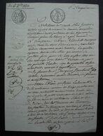 Tonneins 1823 (Lot Et Garonne) Vente Par Elisabeth Mourgues, Veuve Larrieu à Jacques Jaubert, Son Beau-frère - Manuscritos
