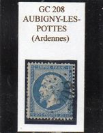 Ardennes - N°22 Obl GC 208 Aubigny-les-Pottes - 1862 Napoléon III
