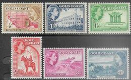 Gold Coast  1952  Sc#148-50, 153-4   MH  2016 Scott Value $3.20 - Côte D'Or (...-1957)