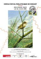 Oiseaux - André BUZIN - COB 2190 Et 2638 - Souvenir 22 Juin 1996 Cercle Royal Philatélique Dinant - Cartas Commemorativas