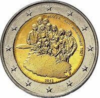 """Pièce 2 Euros MALTE 2013 """"Gouvernement Autonome 1921"""" - Malta"""