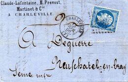 Ardennes - LAC Affr N° 22 Obl GC 898 - Càd Type 15 Charleville - Marcophilie (Lettres)