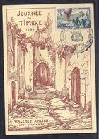 Carte Locale Journee Du Timbre 1955 Valence - France