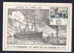 Carte Locale Journee Du Timbre 1955 Le Havre - France