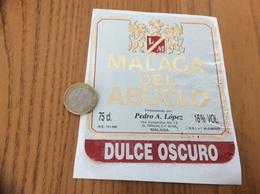 Etiquette Vin Espagne «MALAGA DEL ABUELO - Pedro A. López» - Labels