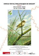 Oiseaux - André BUZIN - COB 2623 - Souvenir 22 Juin 1996 Cercle Royal Philatélique Dinant - Cartas Commemorativas