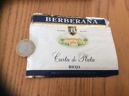 Etiquette Vin Italie «BERBERANA - Carta De Plata - RIOJA» - Labels