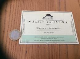 Etiquette Vin Italie 1997 «SANCT VALENTIN - SÜDTIROL ALTO ADIGE - CANTINA PRODUTTORI SAN MICHELE - APPIANO» - Labels