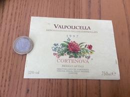 Etiquette Vin Italie 1997 «VALPOLICELLA - IMBOTTIGLIATO DA CORTENOVA - VERONA» - Labels