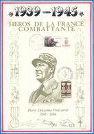 FRANCE - DOCUMENT PIERRE DEJUSSIEU PONTCARRAL OBLI LIB. AUVERGNE CLERMONT FERRAND + 40ANS CAMPS DE CONCENTRATION ..... - Guerre Mondiale (Seconde)