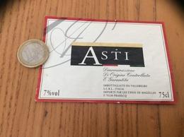 Etiquette Vin Italie «ASTI - IMBOTTIGLIATO DA VALLEBELBO» - Labels