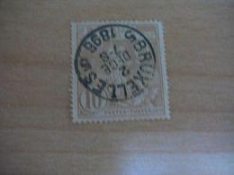 (14.08) BELGIE 1896 Nr 72 Afstempeling BRUXELLES - 1894-1896 Exhibitions
