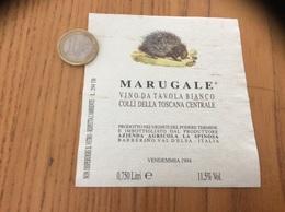 Etiquette Vin Italie 1994 «MARUGALE - VINO DA TAVOLA BIANCO COLLI DELLA TOSCANA CENTRALE» (hérisson) - Labels