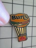 615C Pin's Pins / Beau Et Rare / THEME : MONTGOLFIERES / BALLON LIBRE BUN'S JACQUET - Mongolfiere