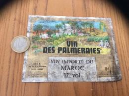 Ancienne Etiquette «VIN IMPORTÉ DU MAROC - VIN DES PALMERAIES - UCB - LORIENT (56)» - Other