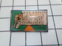 615C Pin's Pins / Beau Et Rare / THEME : SPORTS / CYCLISME CLUB VTT BSL CARLIN - Scherma