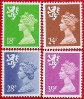 18p 24p 28p 39p Value 14¾:14¼ MACHIN Scotland (Mi 61C-64C) 1991 POSTFRIS MNH ** ENGLAND GRANDE-BRETAGNE GB GREAT BRITAIN - Regionali