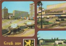 Gera - Blick Vom Kulturpalast Zur Dr.-Rudolf-Breitscheid-Schule, Kulturpalast, Kunstgalerie - 1983 - Gera