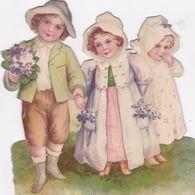 GRAND ET TRES BEAU DECOUPIS 3 ENFANTS 15X15 - Children