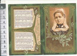 Calendrier Dépliant Biscuits LFEVRE-UTILE, 1908 - Mariée De Quimper - Petit Format : 1901-20