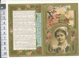 Calendrier Dépliant Biscuits LFEVRE-UTILE, 1908 - Petit Format : 1901-20