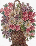 GRAND ET  BEAU DECOUPIS GERBE DE FLEURS 17X13 - Flowers