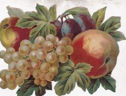 GRAND ET  BEAU DECOUPIS GERBE DE FRUITS 17X12 - Flowers