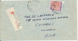 RUANDA URUNDI  REGISTERED COVER FROM USUMBURA 12.06.61 TO USA - Ruanda