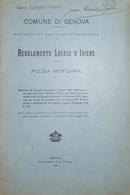 Comune Di Genova - Regolamento Locale D'Igiene - Polizia Mortuaria - Ed. 1924 - Bücher, Zeitschriften, Comics