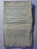 BULLETIN DES LOIS N°522 Bis De 1822 - PENSIONS POUR DES MILITAIRES ET DES VEUVES DE MILITAIRES (détails 167 Militaires) - Decrees & Laws