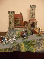 Elastolin Hausser - Castle, Armaments, Figures - Figurines