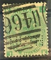 GREAT BRITAIN 1867 - Canceled - Sc# 54 - 1sh - Usados
