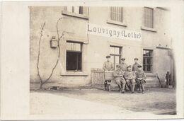 Carte Photo - LOUVIGNY - LOVENINGEN - Militair 1914-1918 1e Wereldoorlog WW1 - Gare Station Bahnhof Statie - Metz Campagne