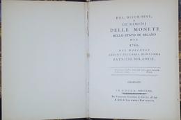 Del Disordine, E De' Rimedj Monete Nello Stato Di Milano 1762 - 1982 Anastatica - Bücher, Zeitschriften, Comics