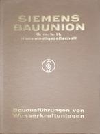 Brochure Società - Siemens Bauunion - Centrali Elettriche - 1930 Ca. - Bücher, Zeitschriften, Comics