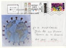 France,lettre Sur Coronavirus, Covid 19, Timbre Croix Rouge, Vignettes - Sellado Mecánica (Otros)
