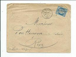 N° YT 60A Sur Lettre De Manosque Pour Riez 1876 - Marcophilie (Lettres)