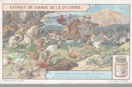 CHROMO LIEBIG  INVASIONS HISTORIQUES D'ITALIE  LES CIMBRES VAINCUS PAR MARIUS A VERCEIL - Liebig
