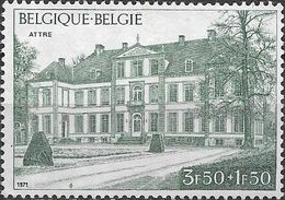 BELGIUM 1971 Belgica 72 Stamp Exhibition, Brussels - 3f.50+1f50 Attre Chateau MH - Belgique
