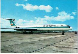 CPM POLOGNE THEMES TRANSPORTS AERONAUTIQUE - Intercontinental Fan-Jet Ilyushin-62 De La Compagnie LOT - 1946-....: Era Moderna