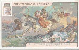 CHROMO LIEBIG  INVASIONS HISTORIQUES D'ITALIE  LES HUNS - Liebig